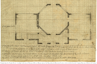 Original plan for Poplar Forest, Coolidge Collection of Thomas Jefferson Manuscripts, Massachusetts Historical Society; retrieved 2021 from the Virginia Museum of History & Culture.