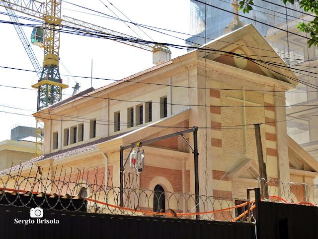 Vista externa da Capela Santa Luzia em restauro - Bela Vista - São Paulo