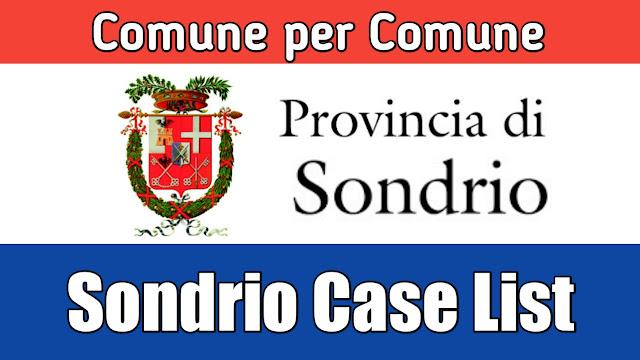 Comune de hisab nal Sondrio di list 26/03/2020