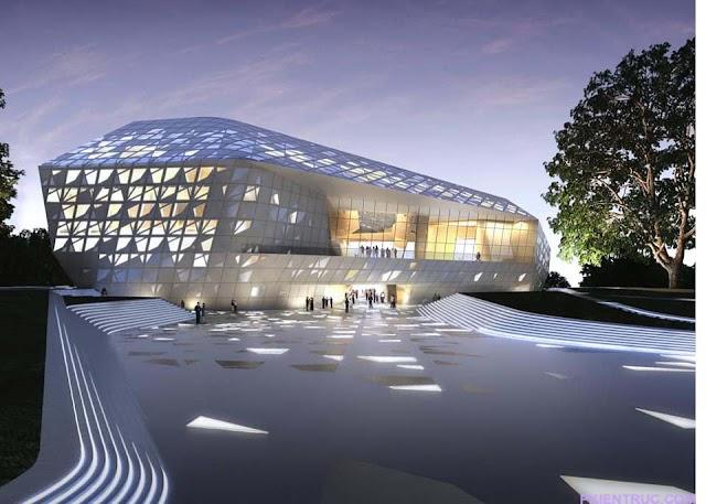 Thiết kế đầy ấn tượng của trung tâm hòa nhạc Beethoven - Đức