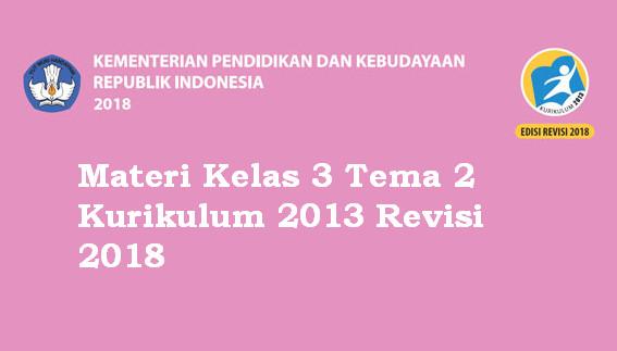 Materi Kelas 3 Tema 2 Kurikulum 2013 Revisi 2018