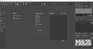 Tampilan Aplikasi Krita desktop di laptop windows