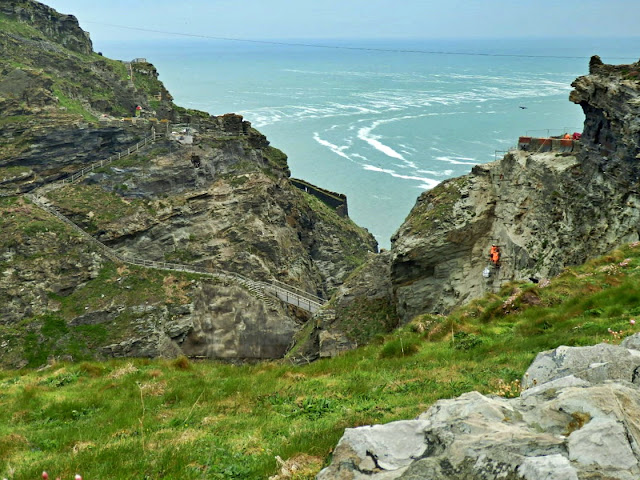 Looking across to ruins of Tintagel Castle