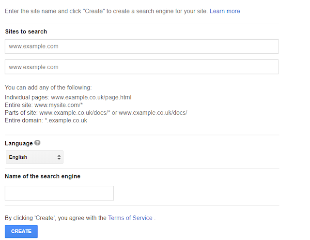 Creating Search Engine with Google CSE