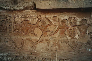 Nubian wrestlers in Ancient Egypt