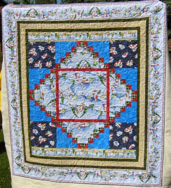 Inch By Inch Quilting Snowman Quilt By Carol