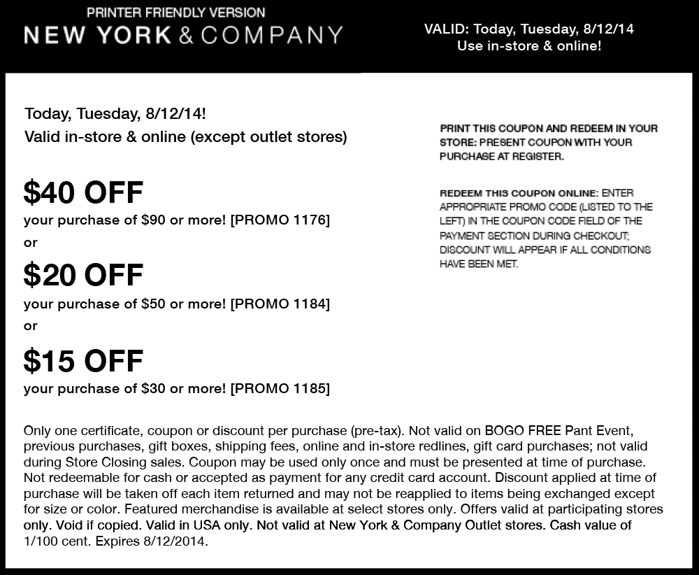 www new york and company coupons
