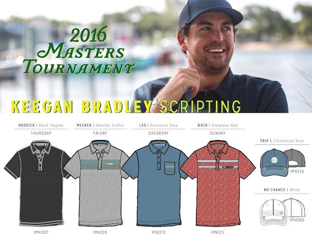 2016 US Masters Scripting Keegan Bradley