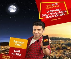 Jazz Warid Ramzan Offer Gives Free Minutes SMS and MBs
