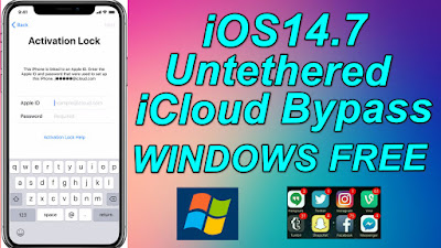 Windows iOS14.7 Untethered iCloud Bypass Apple Device(iPhone-iPad-iPod) Free