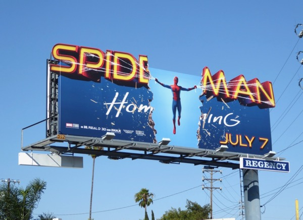 Spiderman Homecoming special cut-out billboard
