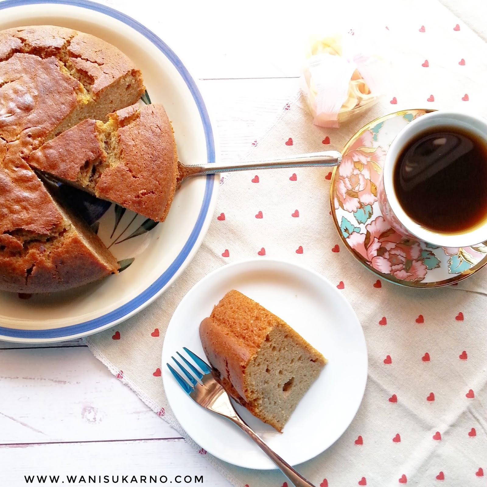 resepi kek pisang bakar sukatan cawan  mudah  moist Resepi Kek Guna Gelatin Enak dan Mudah