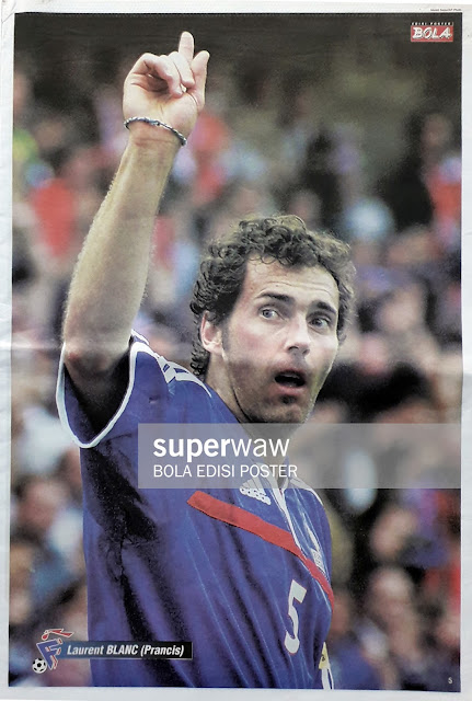 LAURENT BLANC OF FRANCE ON EURO 2000