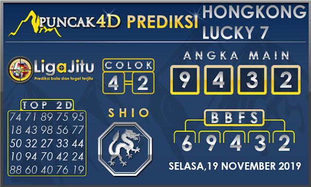 PREDIKSI TOGEL HONGKONG LUCKY7 PUNCAK4D 19 NOVEMBER 2019