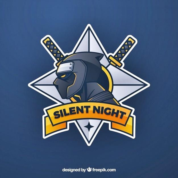 Desain logo ninja silent night