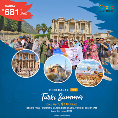 Paket Tour Turki Summer 2020