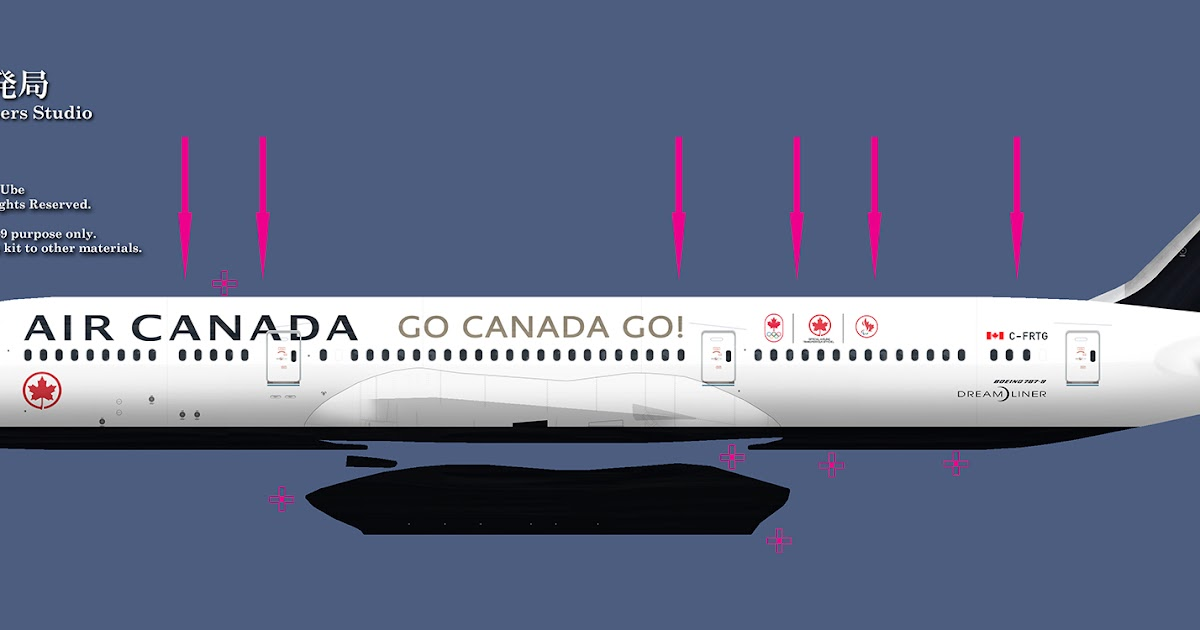 FSRepainter: TDS 787-9 Air Canada C-FRTG Go Canada Go!