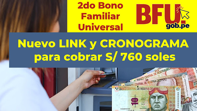 2do Bono Familiar Universal LINK y Cronograma de Pagos
