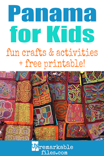 There's lots to learn about the Central American country of Panama besides the Panama Canal! Learning about Panama is fun and hands-on with these free crafts, ideas, and activities for kids! #panama #spanish #kids #educational