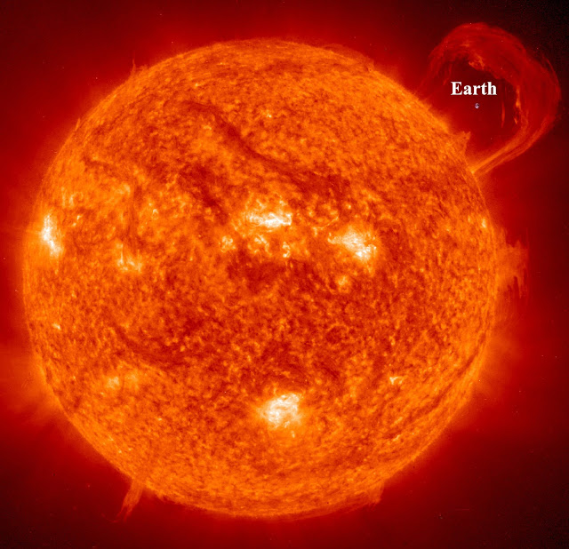 Comparison of the Earth to the Sun