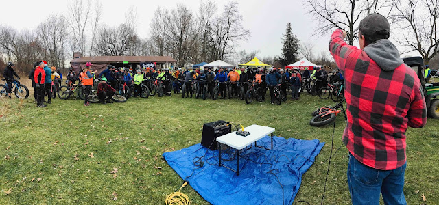 A scene from 2019's Global Fat Bike Day at Sleepy Hollow State Park in Clinton County - Mountain Biking