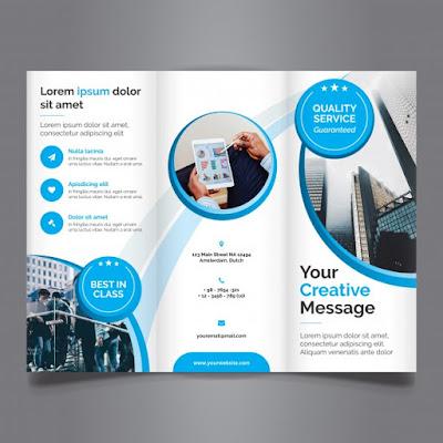 membuat brosur tanpa desain grafis