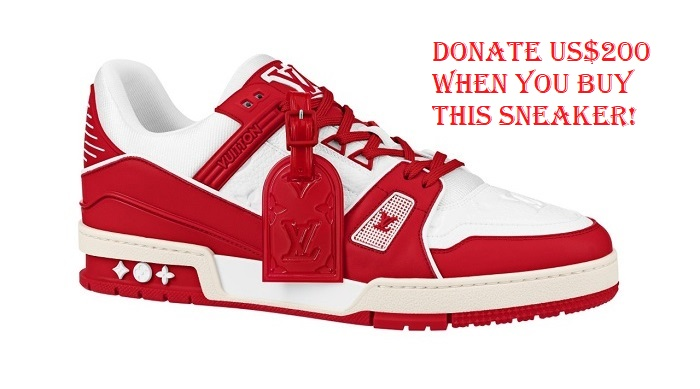 Donate US$ By Buying This Louis Vuitton I RED AIDS Sneakers