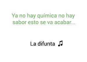 Silvestre Dangond La Difunta significado de la canción.