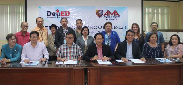 DepEd – Division of Makati signs Memorandum of Understanding with AMA College Makati for Senior High
