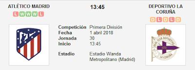 Atlético de Madrid vs La Coruña en VIVO