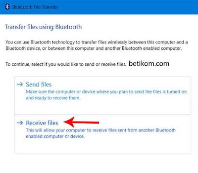 menerima file dari bluetooth HP