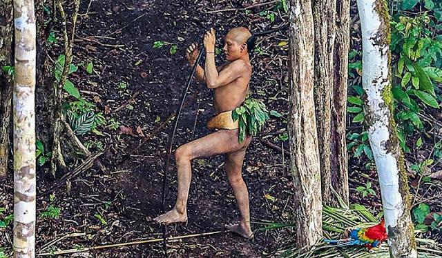 Бразильскому фотографу удалось подобраться как никогда близко к абсолютно дикому племени в лесах Амазонии