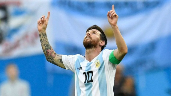 Lionel Messi  relieved after Nigeria struggle