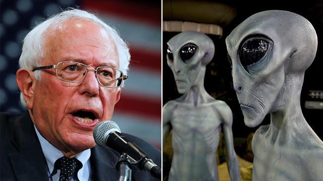 Bernie Sanders promete hacer públicas las evidencias sobre extraterrestres