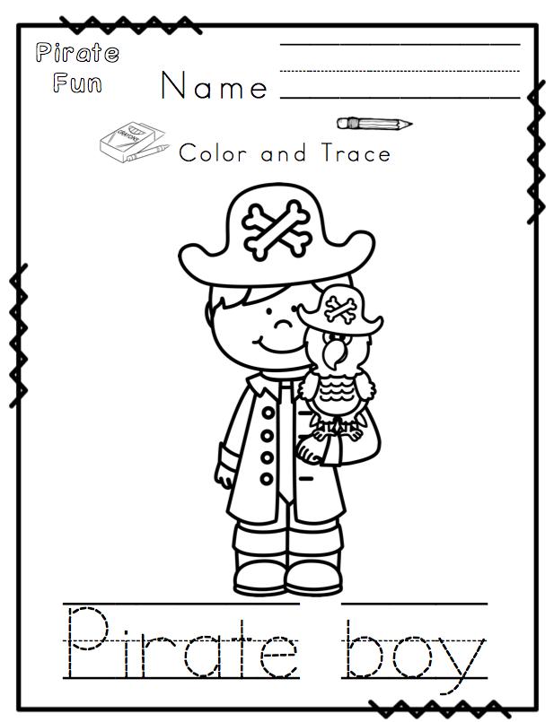 Pirate Fun Printable NO PREP ~ Preschool Printables