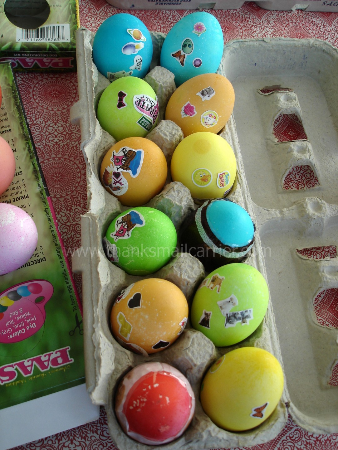 Thanks, Mail Carrier  Paas Easter Egg Decorating Kits