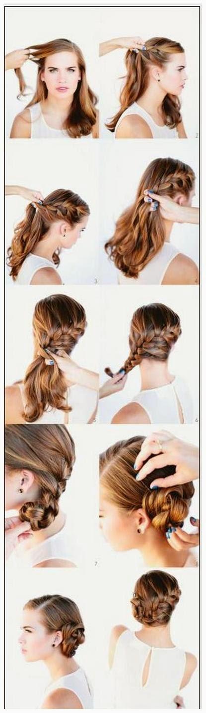 model rambut kepang French Braid Bun
