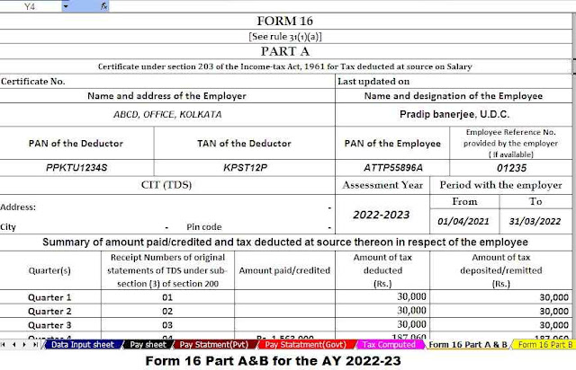 Form 16 Part A and B