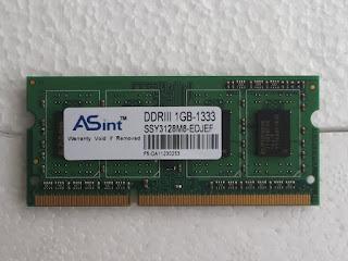 Jual Memori - SODIM 3 - DDR3 1GB bekas
