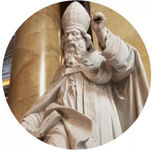 """Beliau terkenal dengan bukunya yang berjudul """"Civitas Dei"""" (Negara Ketuhanan) menurut Agustinus, negara dan gereja adalah satu. Filsafat politik Agustinus ini dipengaruhi oleh kepribadiannya yang taat beragama, sehingga ajaran Agustinus bersifat teokratis.   Defnisi singkat tentang kedua civitas (negara) yang dikemukakan oleh Agustinus yaitu, Pertama Civitas Dei atau Negara (civitas) Tuhan serta ada ilmuan filsafat  yang mengartikannya sebagai apa yang disebut Negara Allah, Negara Surgawi  dan Negara Agama. Kedua, Civitas Terrena atau Diaboli, atau apa yang dikenal dengan Negara Setan (Iblis), atau Negara Duniawi atau Sakuler. Pada pendapat fisafat politiknya tersebut Agustinus cenderung sangat menyukai Civitas Dei dan Agustinus angat mengecam Civitas Terrena."""