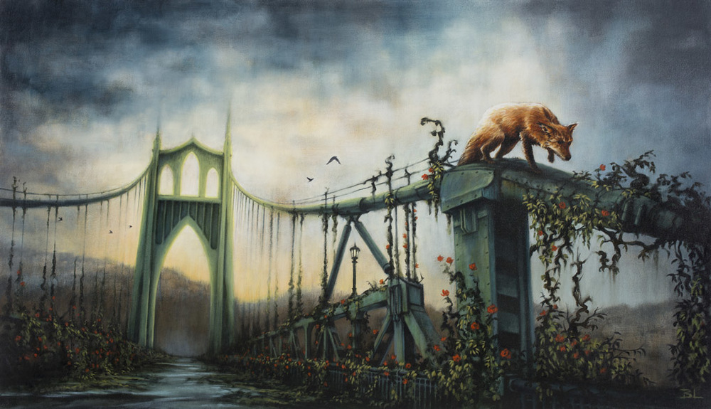 11-The-Garden-Brin-Levinson-Paintings-of-Nature-Reclaiming-Cities-www-designstack-co