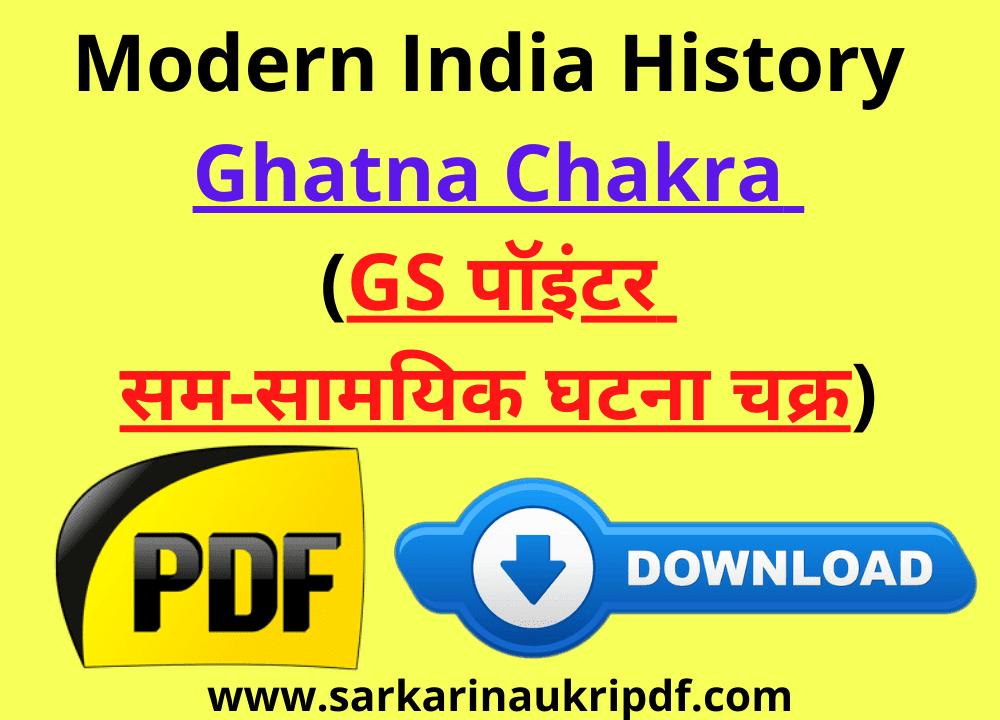 Modern India History Ghatna Chakra (GS पॉइंटर सम-सामयिक घटना चक्र)