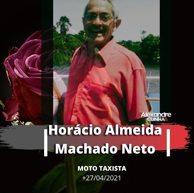 Nota de pesar: Moto taxista Horácio Almeida morre vítima de infarto