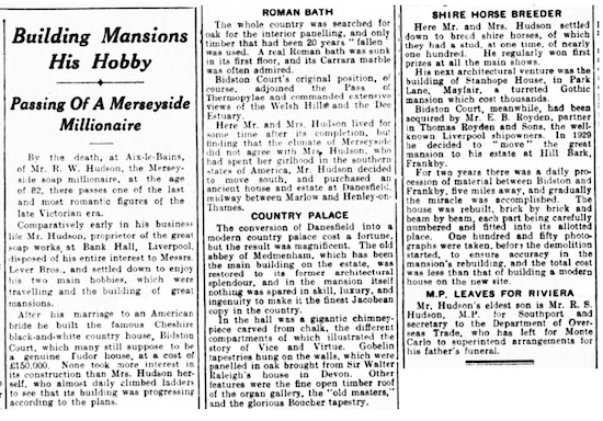 Cutting from The Liverpool Echo - Thursday 16 June 1938  Cutting courtesy of David Humphreys