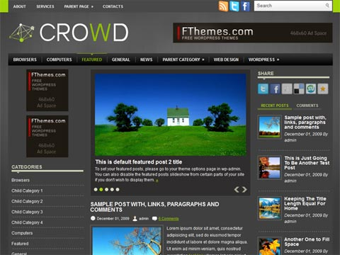 Crowd Free WordPress Theme