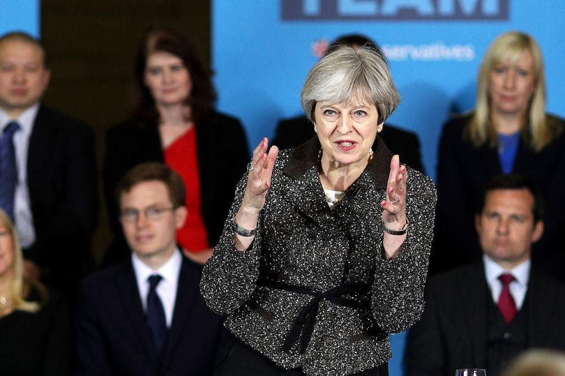 Theresa-May-Campaigns-In-Yorkshire