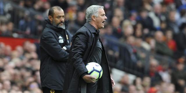 Nuno Espírito Santo (Wolverhampton Wanderers)  and Jose Mourinho ( Manchester United)