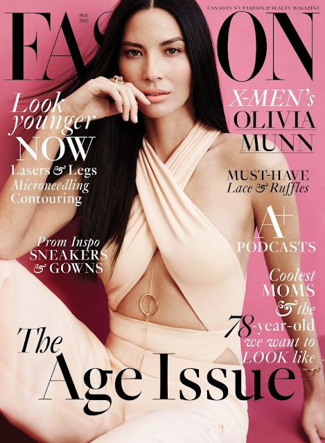 Actress, Model, @ Olivia Munn - Fashion Magazine, May 2016