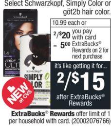 Select Schwarzkopf- Schwarzkopf Simply or Got2b Hair Color-