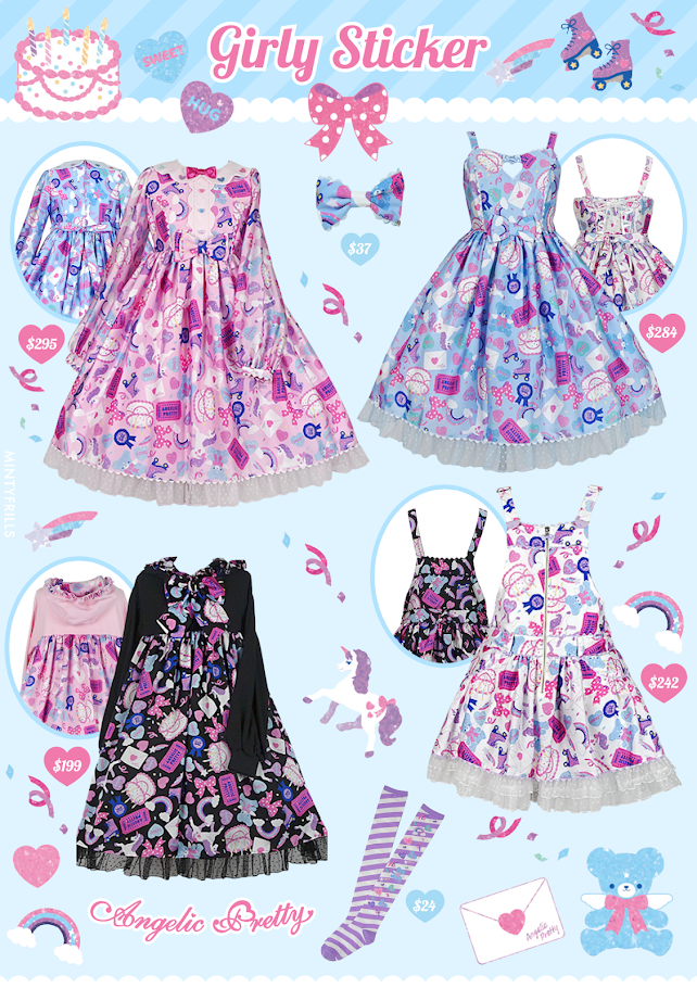 Girly Sticker Angelic Pretty Print Release
